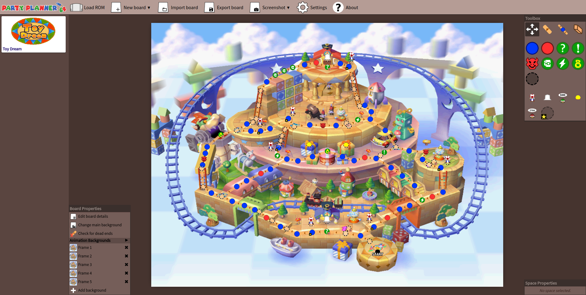 Partyplanner64 Mario Party Board Editor